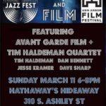 JAZZ + FILM: Avant Garde Film & Live Jazz (2018)